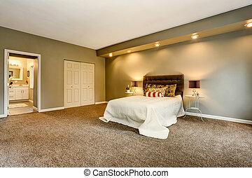guardaroba, interno, bathroom., spazioso, camera letto