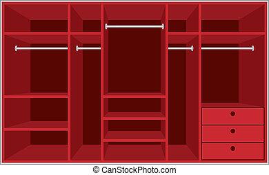 guardaroba, room., mobilia