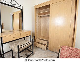 guardarropa, tabla, dormitorio, aliño