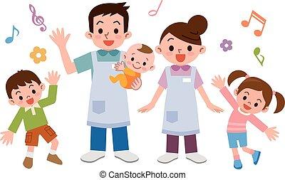 guardería infantil, niños