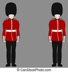guardia, real, británico