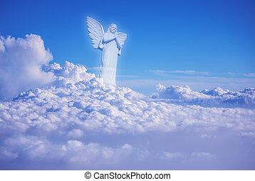 Guardian amongst clouds angel in heaven - Guardian Angel...
