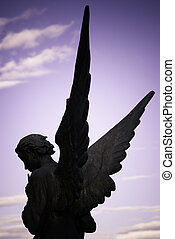 guardian angel on sky background
