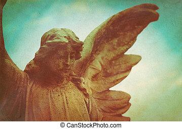 guardian angel - retro texturized style photo