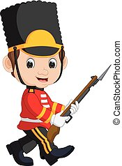 guardsman, caricatura, británico