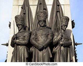 Guardsmen Crimean War Memorial - British Guardsmen from the...