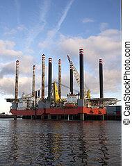 guarneça, óleo, porto