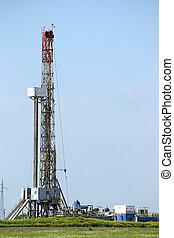 guarneça, campo, óleo perfura, equipamento
