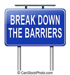 guastarsi, barriers.