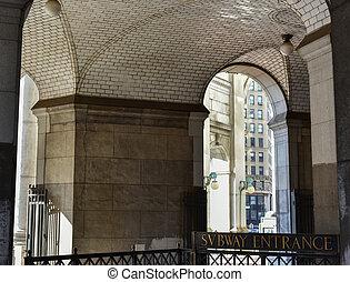 guastavino, タイル, 天井, -, ニューヨーク, 市の, 建物