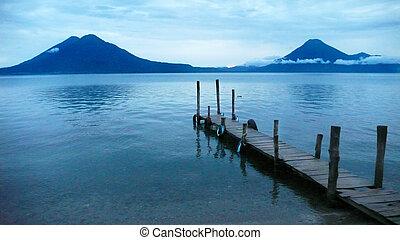 guatemala, 湖, atitlan.