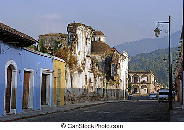 guatemala, 通り, アンチグア