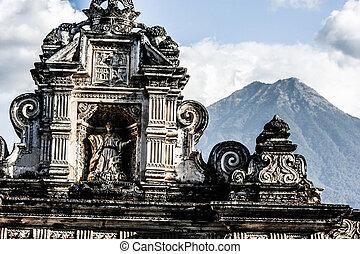 guatemala, arquitectura, antigua, típico