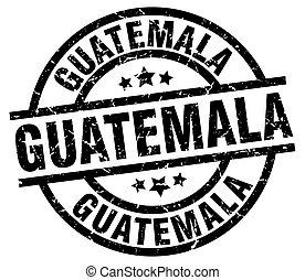 Guatemala black round grunge stamp