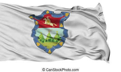 Guatemala Capital City Flag of Guatemala, Isolated Realistic 3D Animation, Seamless Loop - 10 Seconds Long