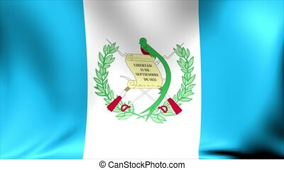 Guatemala Flag. Background Seamless Looping Animation.