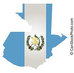 Guatemala Flag - Flag of the Republic of Guatemala overlaid...