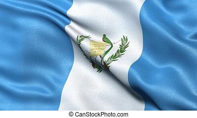 Guatemala flag seamless loop