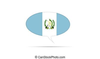 Guatemala Flag Speech Bubble