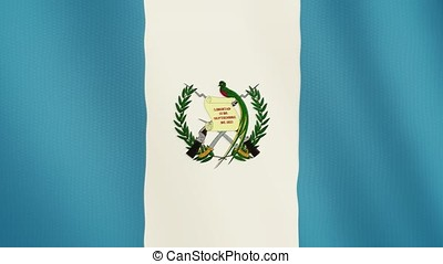 Guatemala flag waving animation. Full Screen. Symbol of the country.