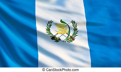 Guatemala flag. Waving flag of Guatemala 3d illustration