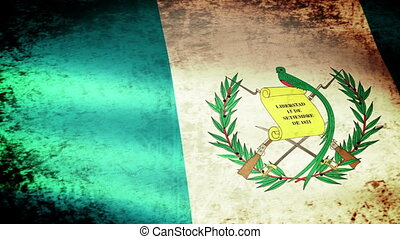 Guatemala Flag Waving, grunge look