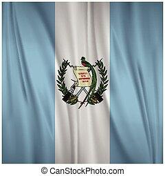 Guatemala Happy independence day Waving flag