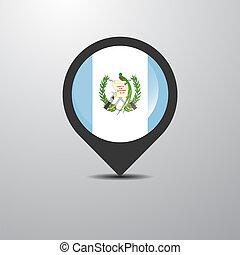 Guatemala Map Pin
