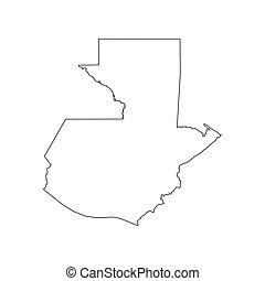 Guatemala map silhouette