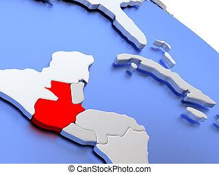 Guatemala on world map