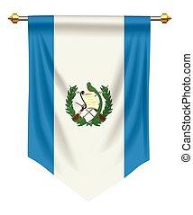 Guatemala Pennant - Guatemala flag or pennant isolated on...