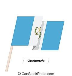 Guatemala Ribbon Waving Flag Isolated on White. Vector ...