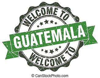 Guatemala round ribbon seal