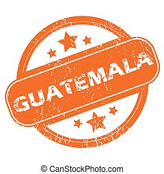 Guatemala rubber stamp - Round rubber stamp with city name...