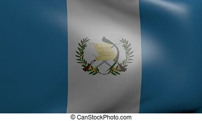 guatemala strong wind flag