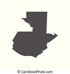 Guatemala vector map. Black icon on white background.