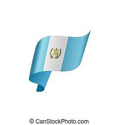 guatemala, vetorial, bandeira, ilustração