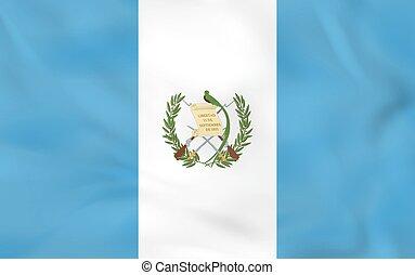 Guatemala waving flag. Guatemala national flag background...