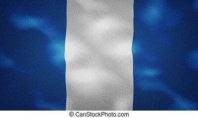 Guatemala dense flag fabric wavers, perfect loop for background