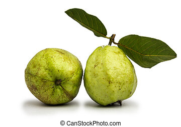 Guava green on a white background.
