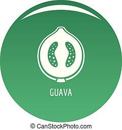 Guava icon vector green