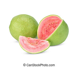 Guava isolated on white background.