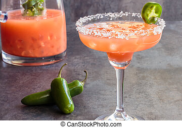 Guava Jalapeno Margarita - Spicy Hawaiian margarita made by...