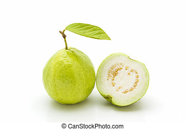 Guava. - Guava on white background. Fruit with from tropical...