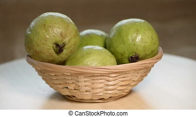 Guava rotates on small basket - Guava rotates on small...