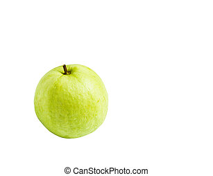Guavas isolated on white background with clipping path