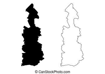 Guaynabo municipality (Commonwealth of Puerto Rico, Porto Rico, PR, Unincorporated territories of the United States) map vector illustration, scribble sketch Guaynabo map