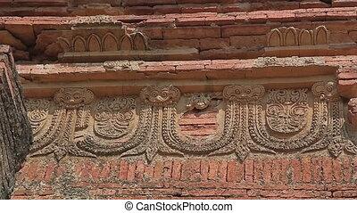 Gubyaukgyi Temple in Bagan, Nyaung U, Burma. - Gubyaukgyi...