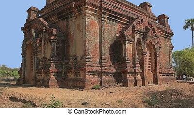 Gubyaukgyi Temple  in Bagan, Nyaung U, Burma.