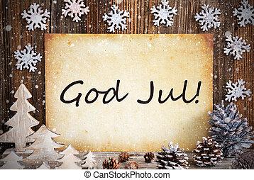 gud, dekoration christmas, merry, sneflager, gamle, jul,...